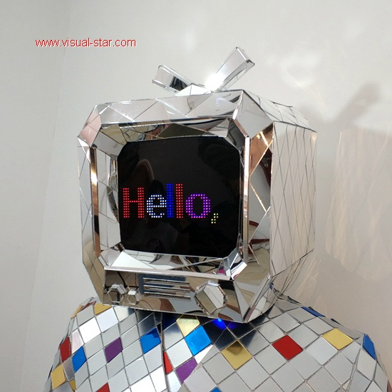 Mirror TV helmet DJ