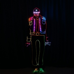 Light balance led dance costume