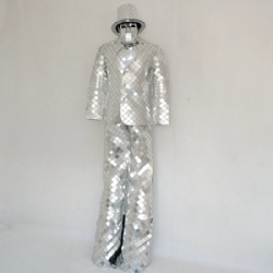 Stilts mirror man costumes
