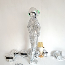 Human discoball mirror costume female