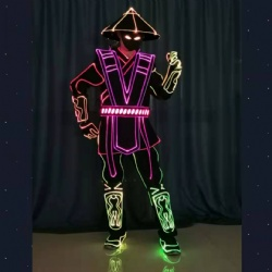Programmable led tron dance costumes