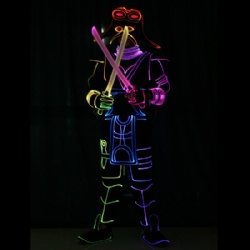 Light up dance warrior costumes