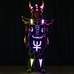 Led fiber optic horn dance costumes