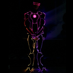 Led light Iron man performance costume