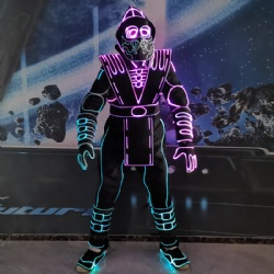 Led light tron dance suit
