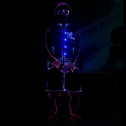 Led light tron dance costumes