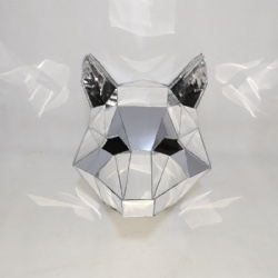 Mirror fox helmet for DJ