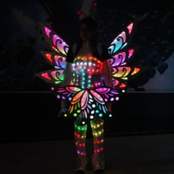 Led light butterfly wings costume