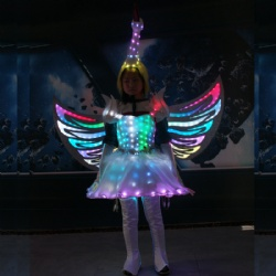 Led light cosplay costume dress