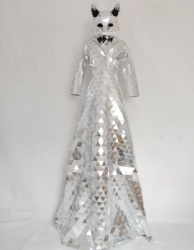 Discoball mirror stilts dress
