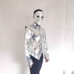 Mirror man costume coat