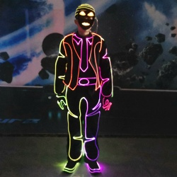 Led fiber optic light up dance outfit