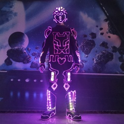 Customized led light performance outfit