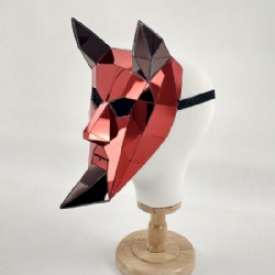 Red mirror Monster masks