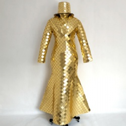 Golden mirror dance dress