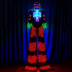 Led robot costume for performance